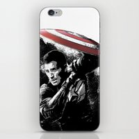 steve rogers iPhone & iPod Skins featuring Steve Rogers: Shadow Edition by NKlein Design