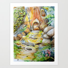Fairy Doors Art Print