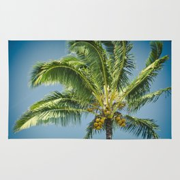 keanae hawaiian coconut palm Rug