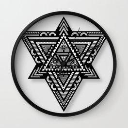 Geometric Triangle Pattern (Grey) Wall Clock