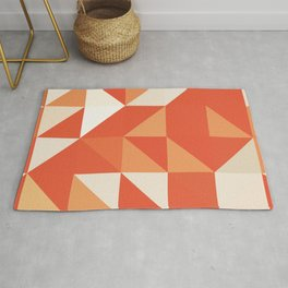 Decorative Orange Geometerical Pattern Rug