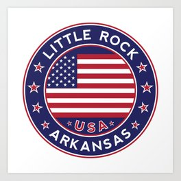 Little Rock, Arkansas Art Print