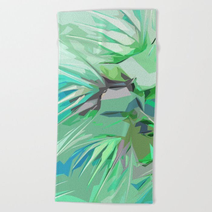 Palm Trees Abstract Beach Towel