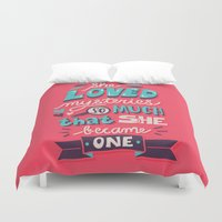paper towns Duvet Covers featuring Paper Towns: Mysteries by Risa Rodil