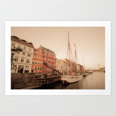 By the Nyhavn Art Print