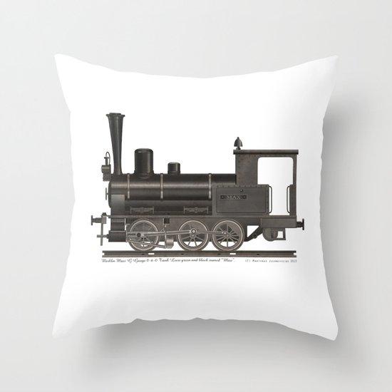 Locomotive Black Max Throw Pillow