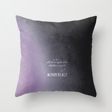 wander {violet Throw Pillow