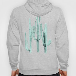Cactus Trio Turquoise by Nature Magick Hoody