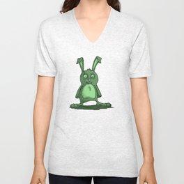 Frazzled Rabbit Unisex V-Neck