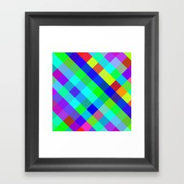 Checkered Colour - Geometric, Colour, Checkered Pattern Framed Art Print