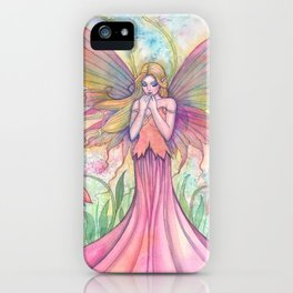 Wildflower Fairy Fantasy Art by Molly Harrison iPhone Case