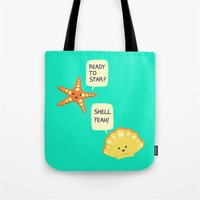 motivational Tote Bags featuring Motivational Beach! by AnishaCreations