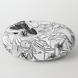 Forest Frogs Floor Pillow