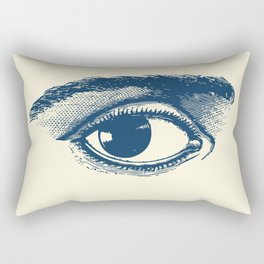 I see you. Navy Blue on Cream Rectangular Pillow
