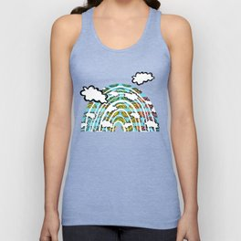 Rainbow Waves Unisex Tank Top