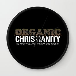 Organic Christianity Wall Clock