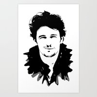james franco Art Prints featuring james franco by looseleaf