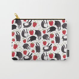 Badgers and Strawberries Carry-All Pouch
