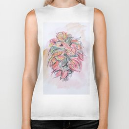 Colored Pencil Flowers Biker Tank