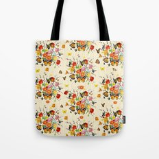 Butterfly Bouquet on Raw Silk Tote Bag