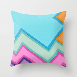 Shadowing colors Throw Pillow