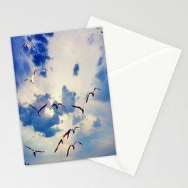 blue sky. Stationery Cards