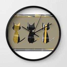 Cool Cats in Tartan Wall Clock