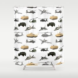 American Military Pattern Shower Curtain