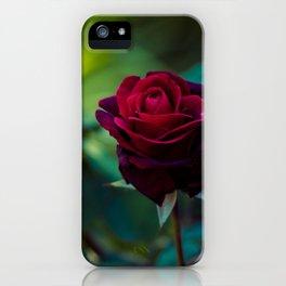 Single Red Rose - Botanical Photography iPhone Case