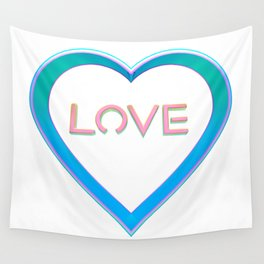 Love Heart Wall Tapestry