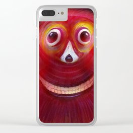 Red Ghost Clear iPhone Case