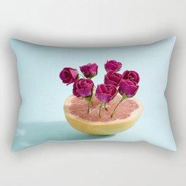 Grapefruit and red roses Rectangular Pillow