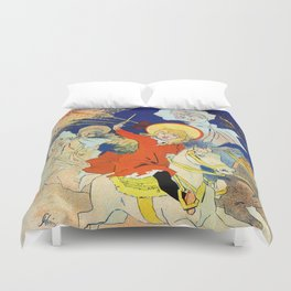 1890 Casino Enghien France Duvet Cover