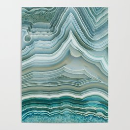 Agate Crystal Blue Poster