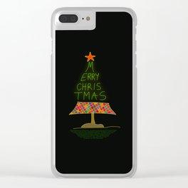 Merry christmas handwritten Clear iPhone Case