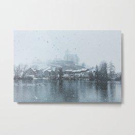 Snowy Castle Metal Print