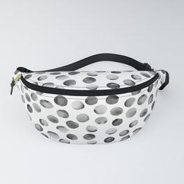 Black Watercolor Dots Fanny Pack