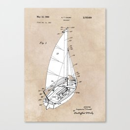 patent art Court Sailboat 1964 Canvas Print