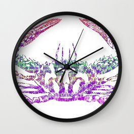 Rainbow Crab Wall Clock