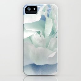 Peony in Blue White iPhone Case