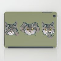 evil iPad Cases featuring No Evil Cat by Huebucket