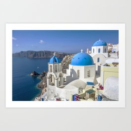 Santorini, Oia Village, Greece Art Print