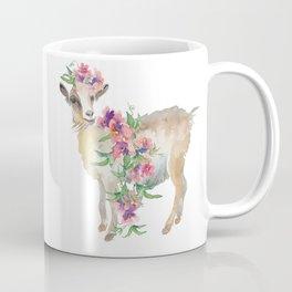 goat with flower crown Coffee Mug