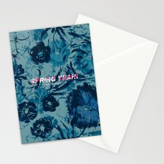 Spring Yeah! - Blue Flowers Stationery Cards