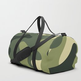 Camouflage Camo Green Tan Pattern Duffle Bag