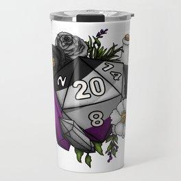 Pride Asexual D20 Tabletop RPG Gaming Dice Travel Mug