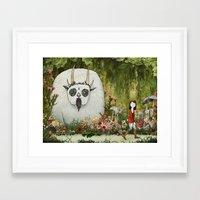 captain silva Framed Art Prints featuring Silva by Katy Davis