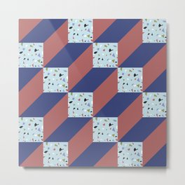 CubesIV/ Metal Print