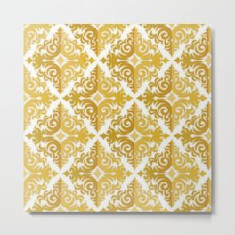 Two Tone Pattern in Gold Metal Print