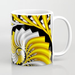 spirals in gold and white Coffee Mug